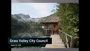 Grass Valley City Council Meeting 08/25/2020