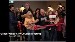 Grass Valley City Council Meeting 10/27/2020