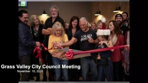 Grass Valley City Council Meeting 11/10/2020