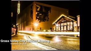 Grass Valley City Council Meeting 11/24/2020